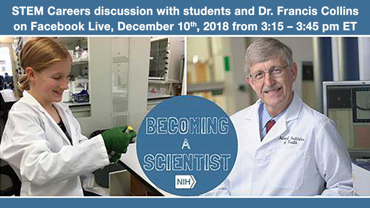 Image for Live Conversation with NIH Director for Students