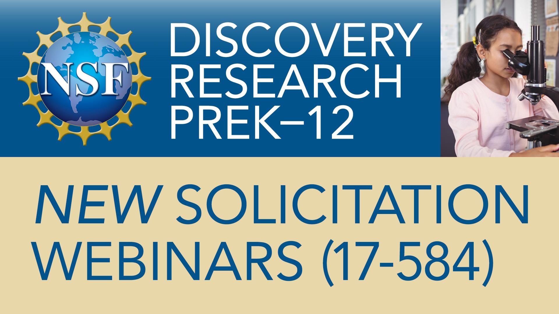 Deadline Nears: Register for NSF Webinars | Science Education