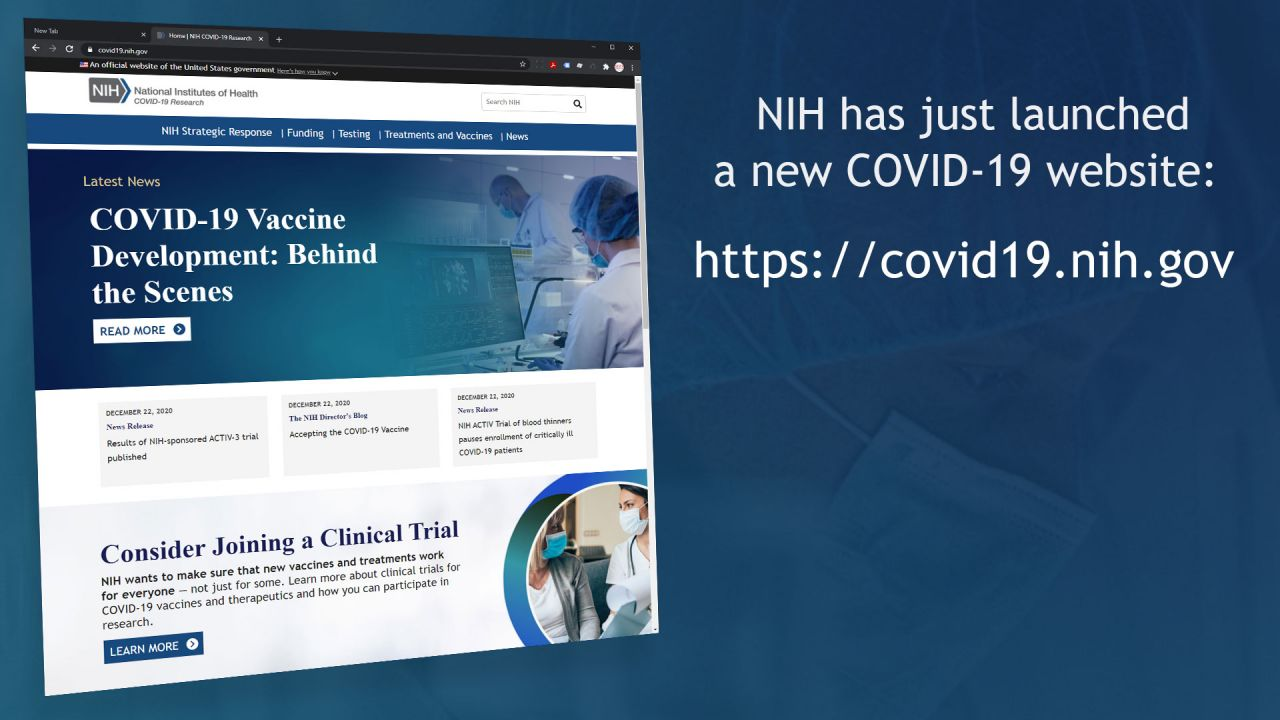 Image for The new NIH COVID-19 website has launched!